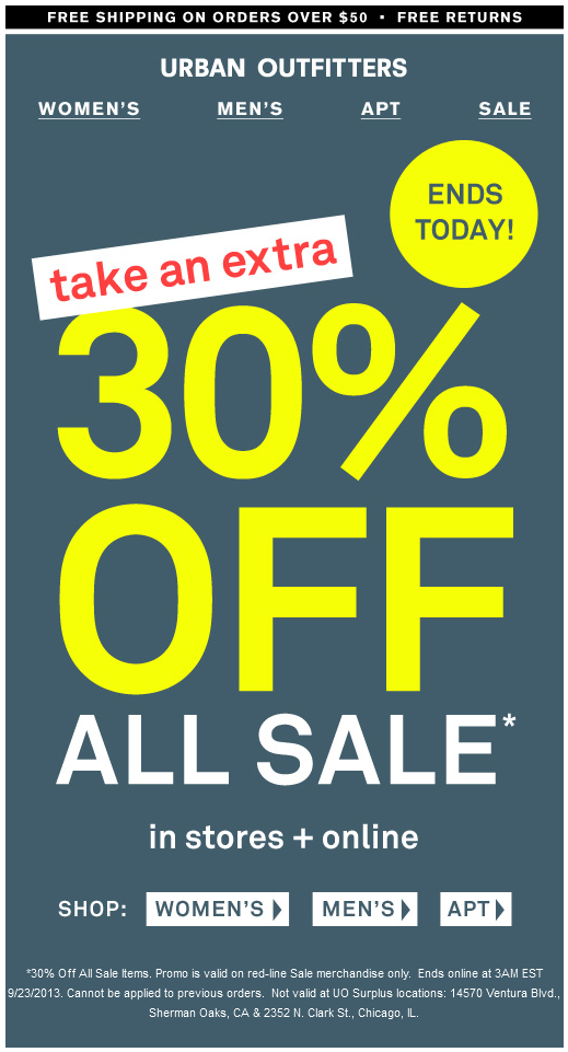 Pinned September 22nd  Extra 30% off sale items today at  Urban Outfitters d5e0a0bf9