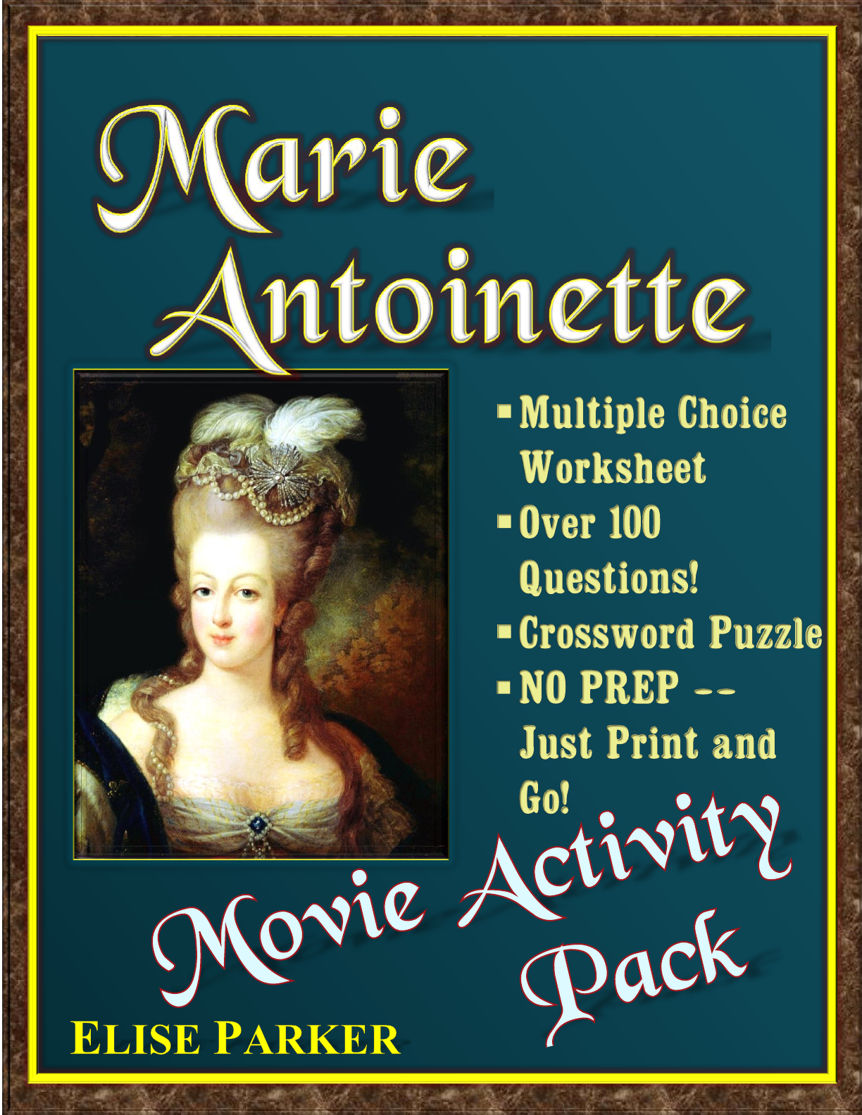 Marie Antoinette Movie Worksheets And Activity Pack