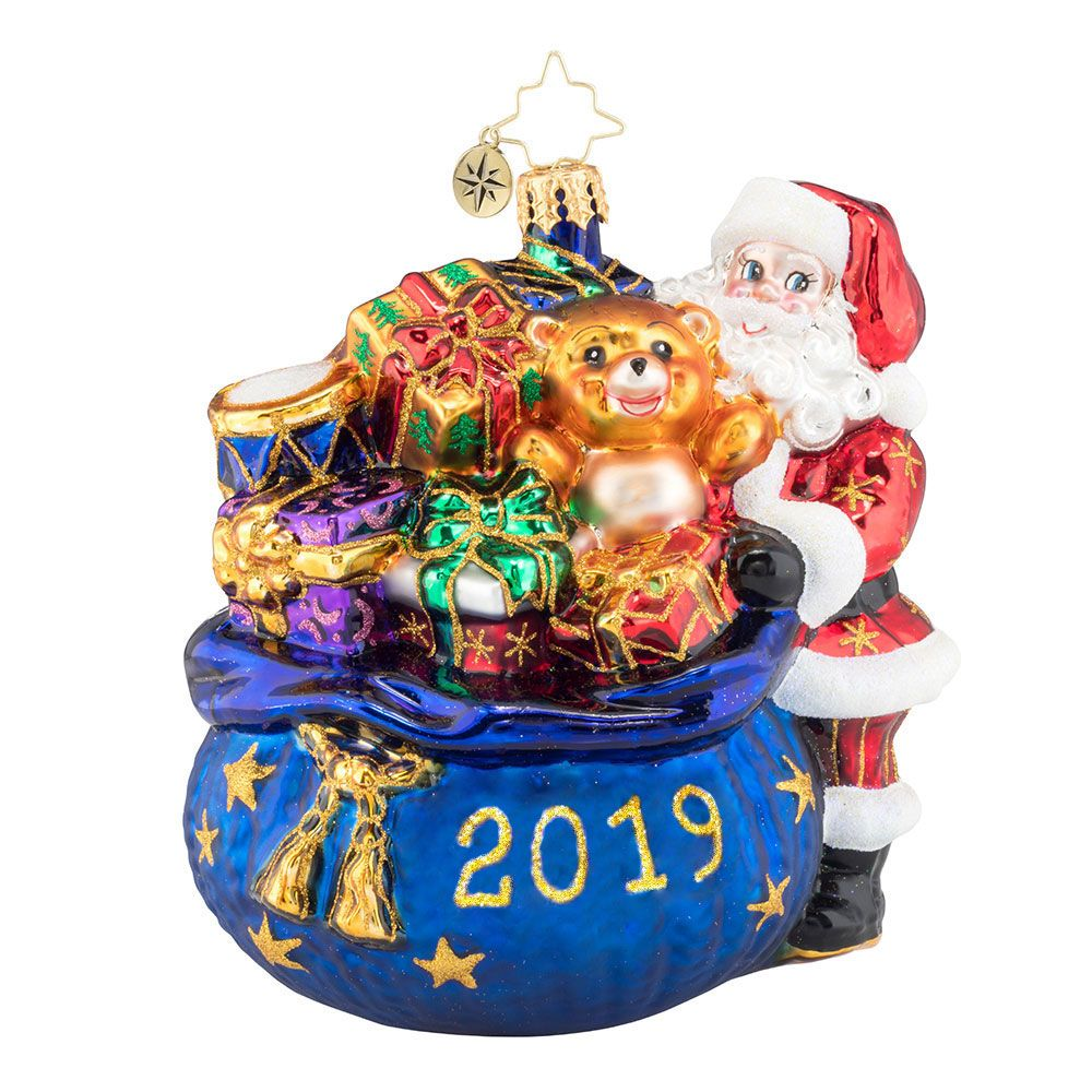 3013447 2019 Radko Santa Surprise Dated Ornament