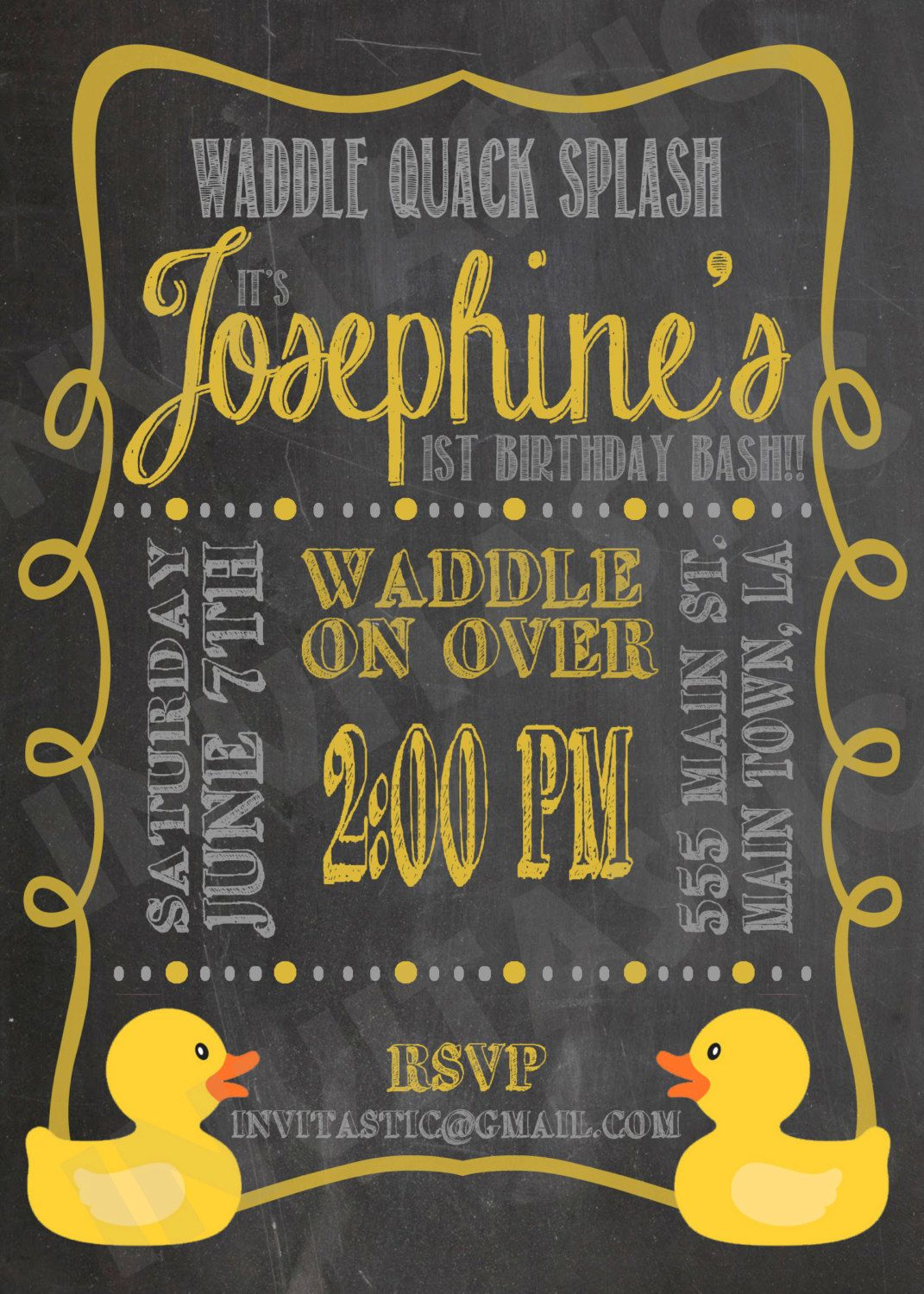 Rubber duck birthday invitation chalkboard rubber ducky invitation rubber duck birthday invitation chalkboard rubber ducky invitation rubber duck theme available for shower and gender parties too filmwisefo Image collections