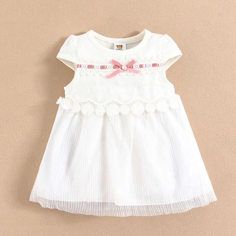 2016 Baby Mädchen Elegante Abend Sommer Kleid Kinder Weiß Kleid ...