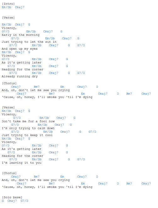 mac demarco ode to viceroy guitar chords