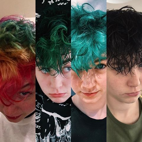 Rainbow haired boy--- Miles @Godhatesmiles | Miles mckenna, Eva hair, Miles  chronicles