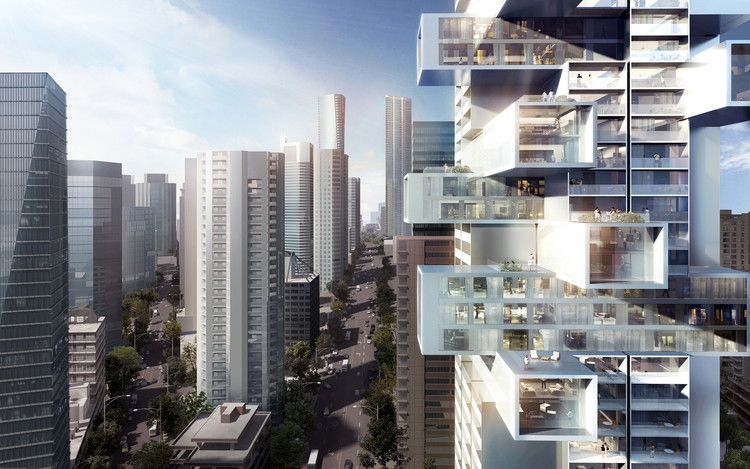 "Büro Ole Scheeren Unveils the ""Future of Vertical Housing"" in Vancouver 