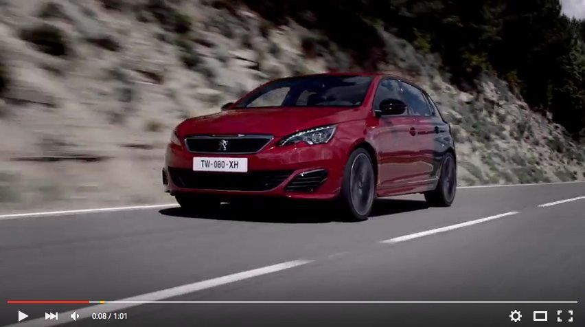 Video Dal Sound Graffiante Per 308 Gti 270 Cv Peugeot