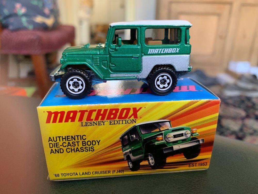 Boxed Matchbox 1968 Toyota Land Cruiser Green 4x4 Lesley Edition Ebay