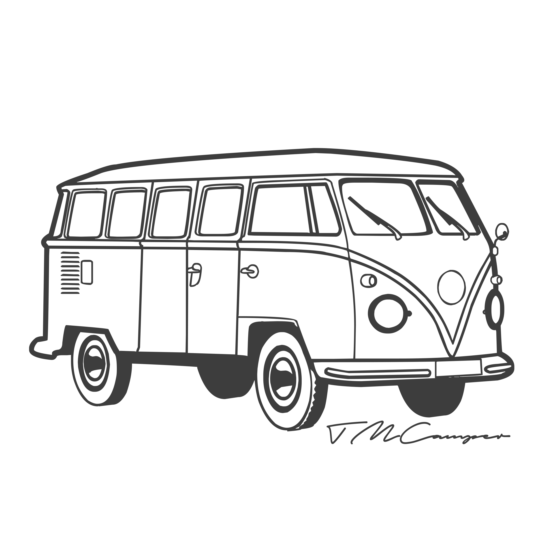 mewarna09 kleurplaat volswagenbus