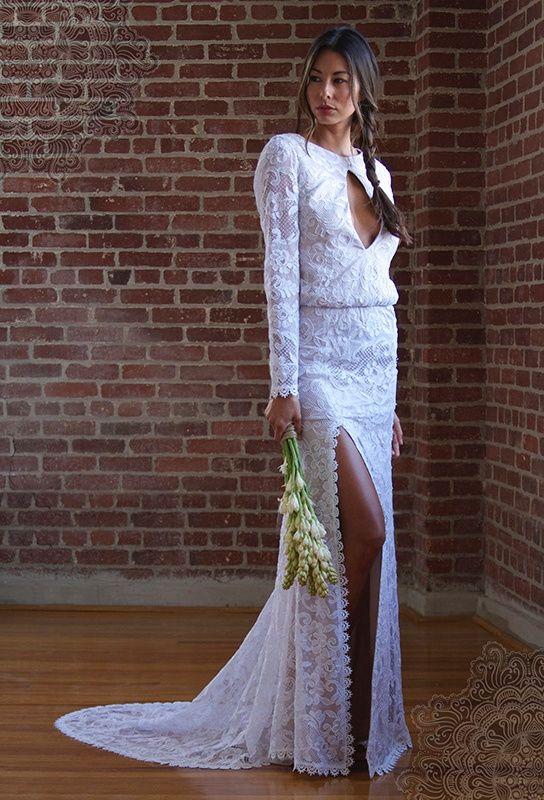 Jessica Gomes Wears Stone Cold Fox\'s Bohemian Wedding Dresses ...