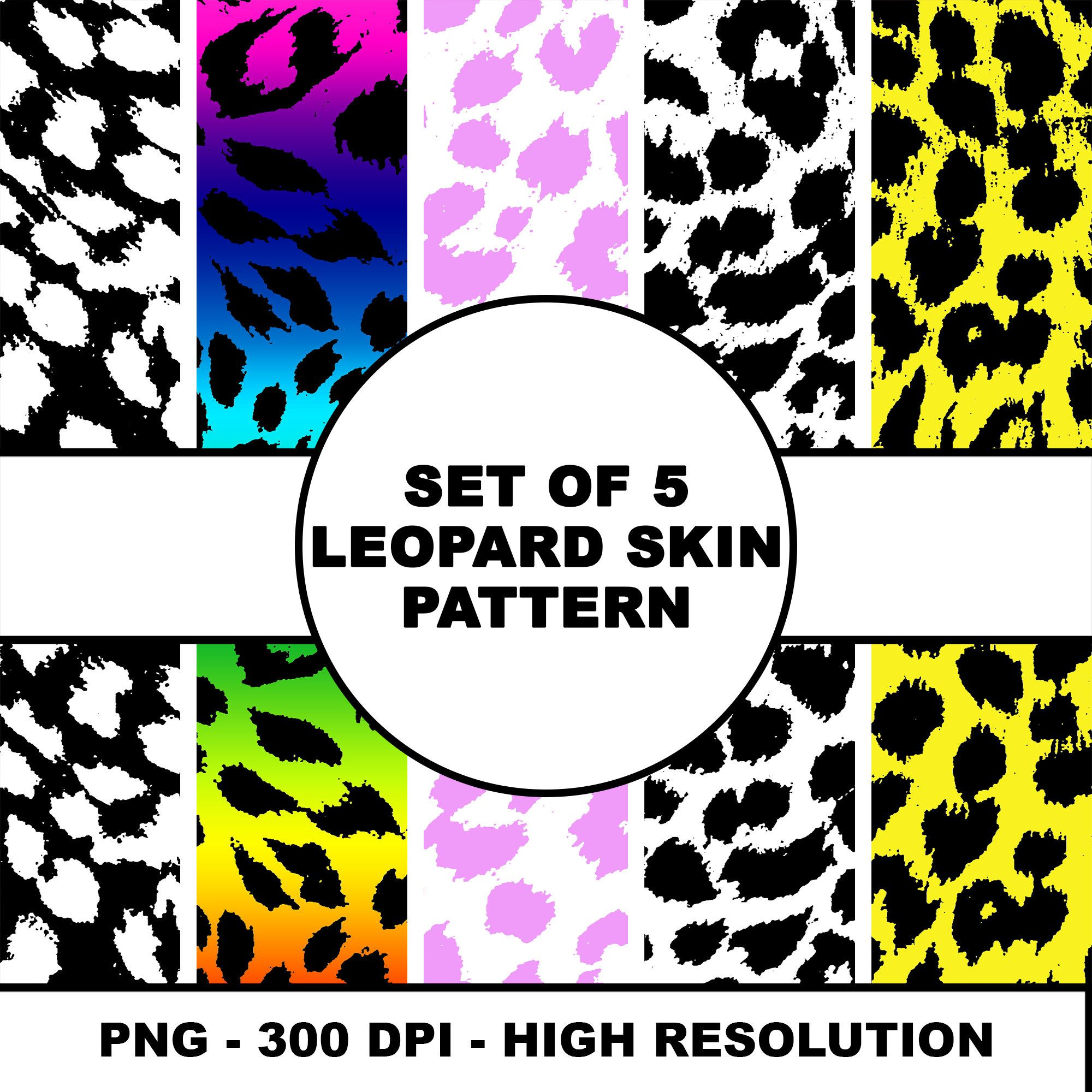 5 Leopard Skin Texture Animal Pattern Artwork 5 Different Etsy Skin Textures Digital Art Prints Animal Pattern
