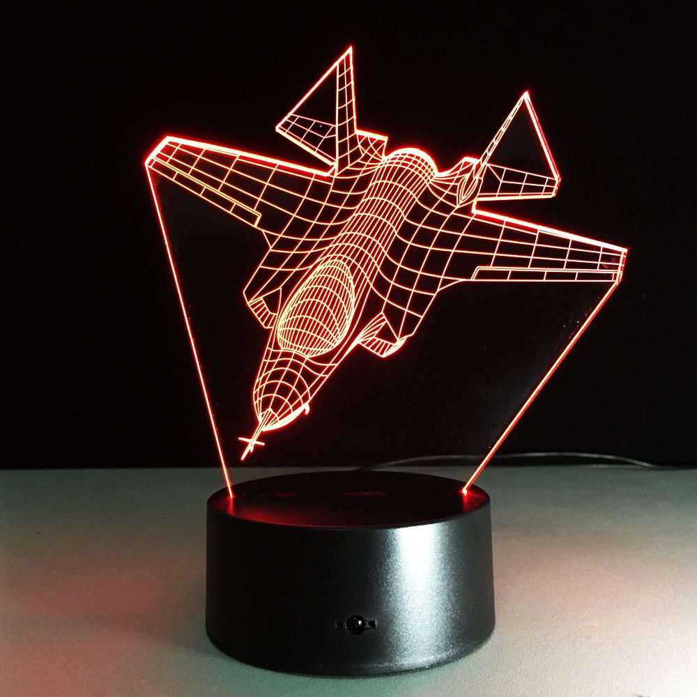 Air Plane Series 3d Night Light Supply Visual Aircraft Battleship 3d Light Desk Lamp Jet Home Decor Led Usb Baby Bedside La Night Light Lamp Color Changing Led