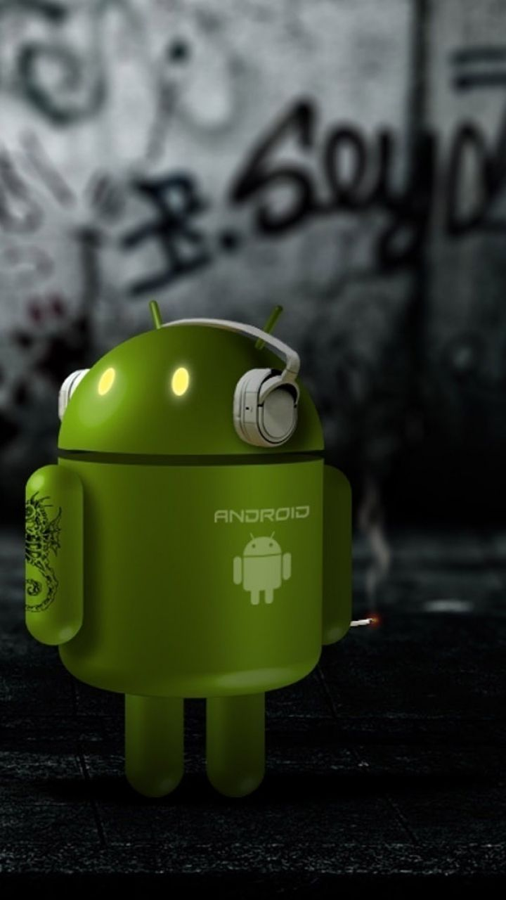 robot android dark wallpaper for mobile 720x1280 | mobile wallpapers