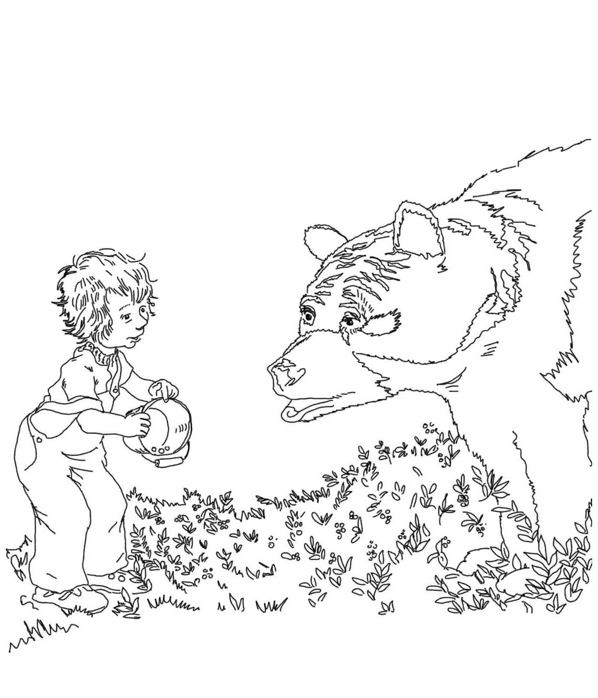 Blueberries For Sal Coloring Pages E1529842391209 With Images