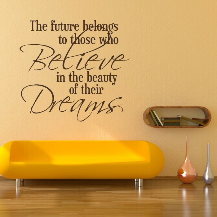 Believe In The Beauty Of Dreams Wall Sticker Quotes Wall Decals - Inspiring wall decals