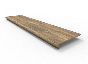 Best 48 Rustic Reclaimed Oak Retro Fit Tread 49 99 Sqft 400 x 300
