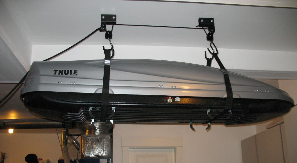 How To Store Thule Cargo Box Car Roof Box Roof Box Garage Storage