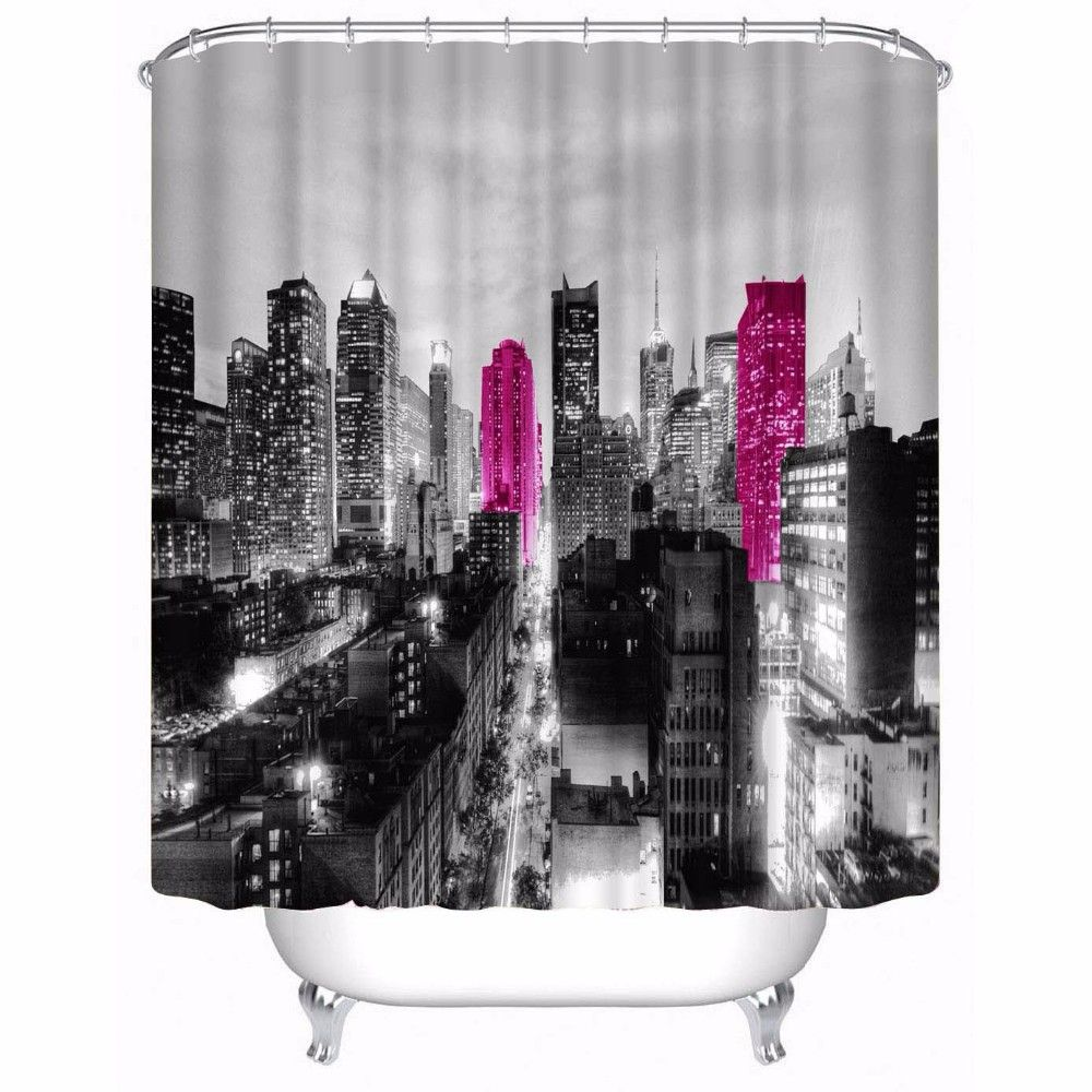 Romantic City Lights Shower Curtains Bring The Mystery Of The City To Life Free Shipping Within The Usa 25 99 Ea Romantic City City Lights Shower Curtain