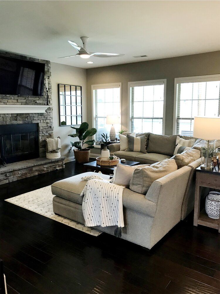 Photo of Modern Farmhouse Living Room Design — Gathered Living