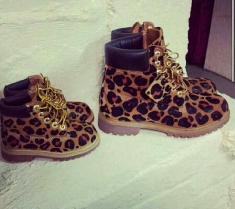 b0701e9a7 Cheetah print timberlands for mee and my girls!!! So freakin cute ...