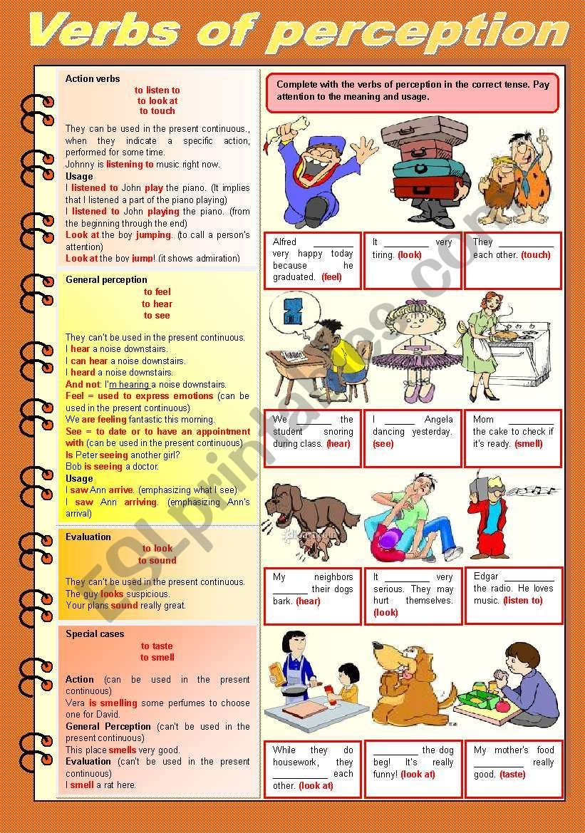 Verbs Of Perception Rules Usage Examples And Exercises To Practice Completely Editable Thanks For Downloading And Ha Verb Perception Vocabulary Worksheets [ 1169 x 821 Pixel ]