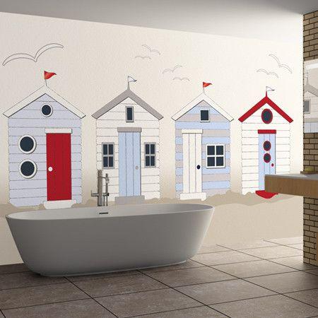 british beach huts | coastal bathroom design, kids beach