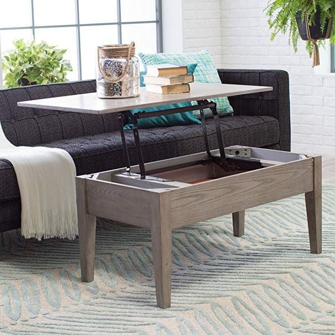 Coffee Tables (Gray) Lift Top Rectangle Wood Cocktail Living Room End Table Side Modern ...