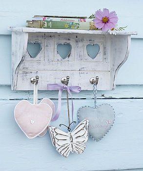 Heart Shelf With Hooks