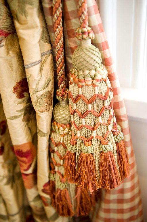 mix it up ~ silk, checks, florals, grids,  custom tassel