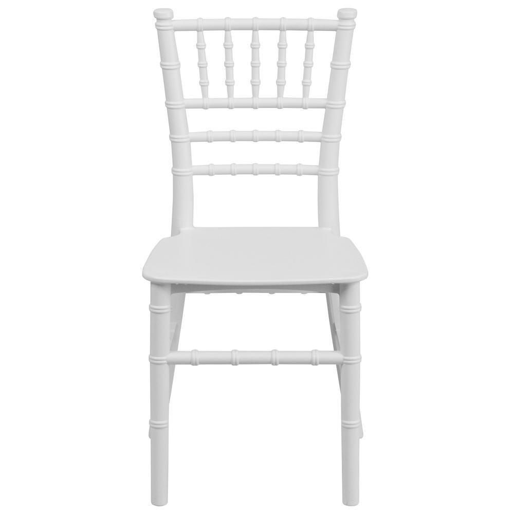Flash furniture kids white resin chiavari chair lel7kwh