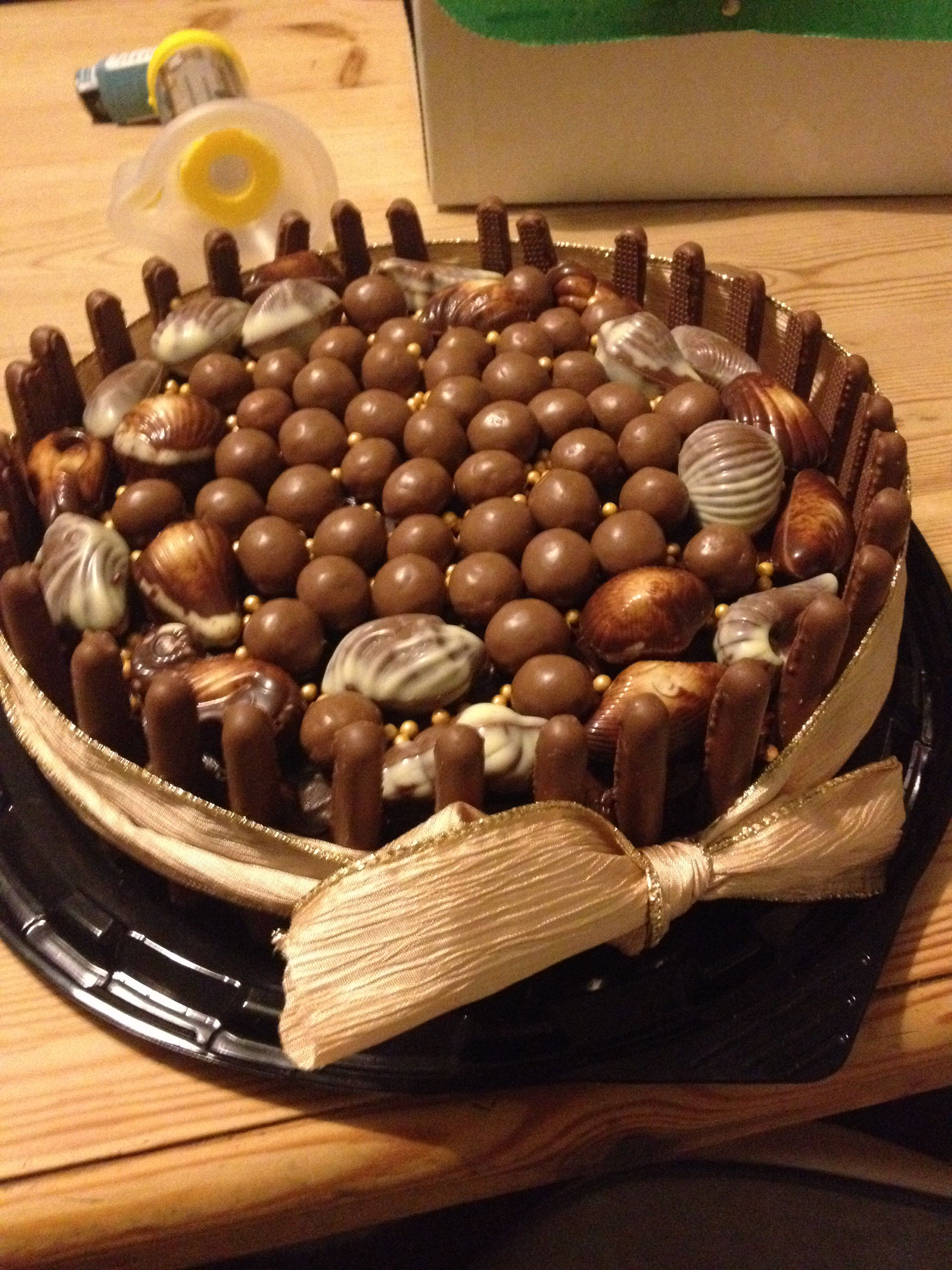 Choc Cake Birthday Homemade Easy Maltesers Guylian