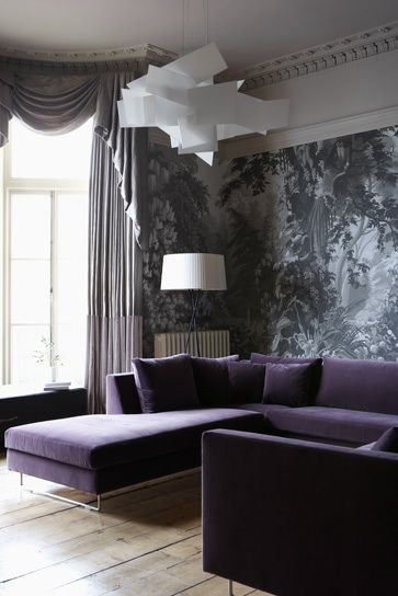 Purple Sofa. I Want This So Bad