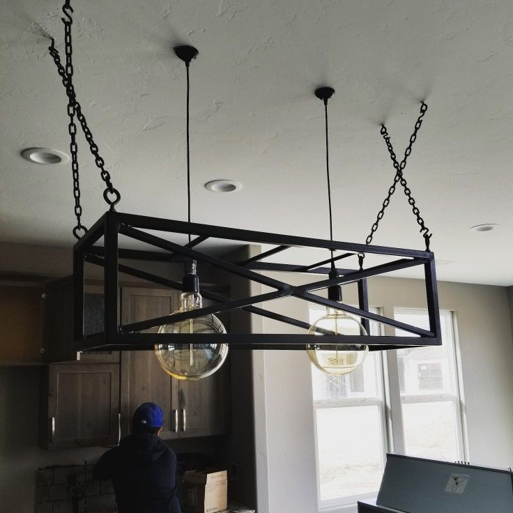 Dahlbuilthomes Sneak K Of This One A Kind Light Fixture Over The Top