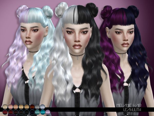 The Sims Resource Melanie Hair By Leahlillith Sims 4 Downloads Sims 4 Sims 4 Anime Sims