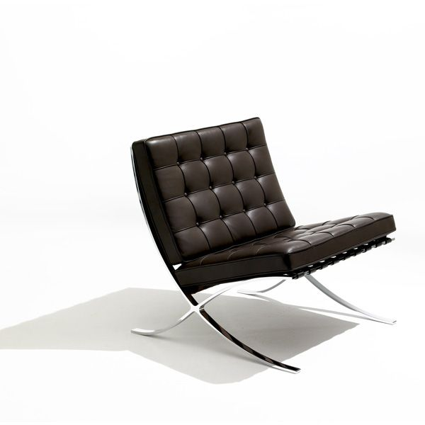 Barcelona Chair (Black Leather) - Quick Ship