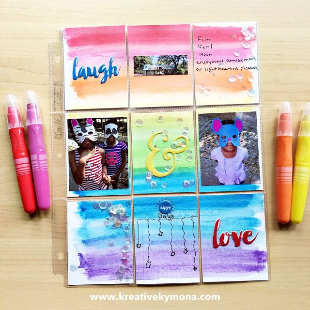 How To Create A Watercolor Scrapbook Page Pl Pinterest