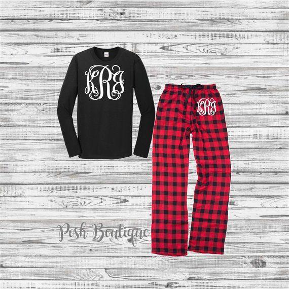 Family Pajama Set, Christmas Pajama Set, Monogrammed Pajama Set