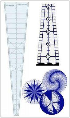 10 Degree Wedge Ruler With Circular Bargello Designs