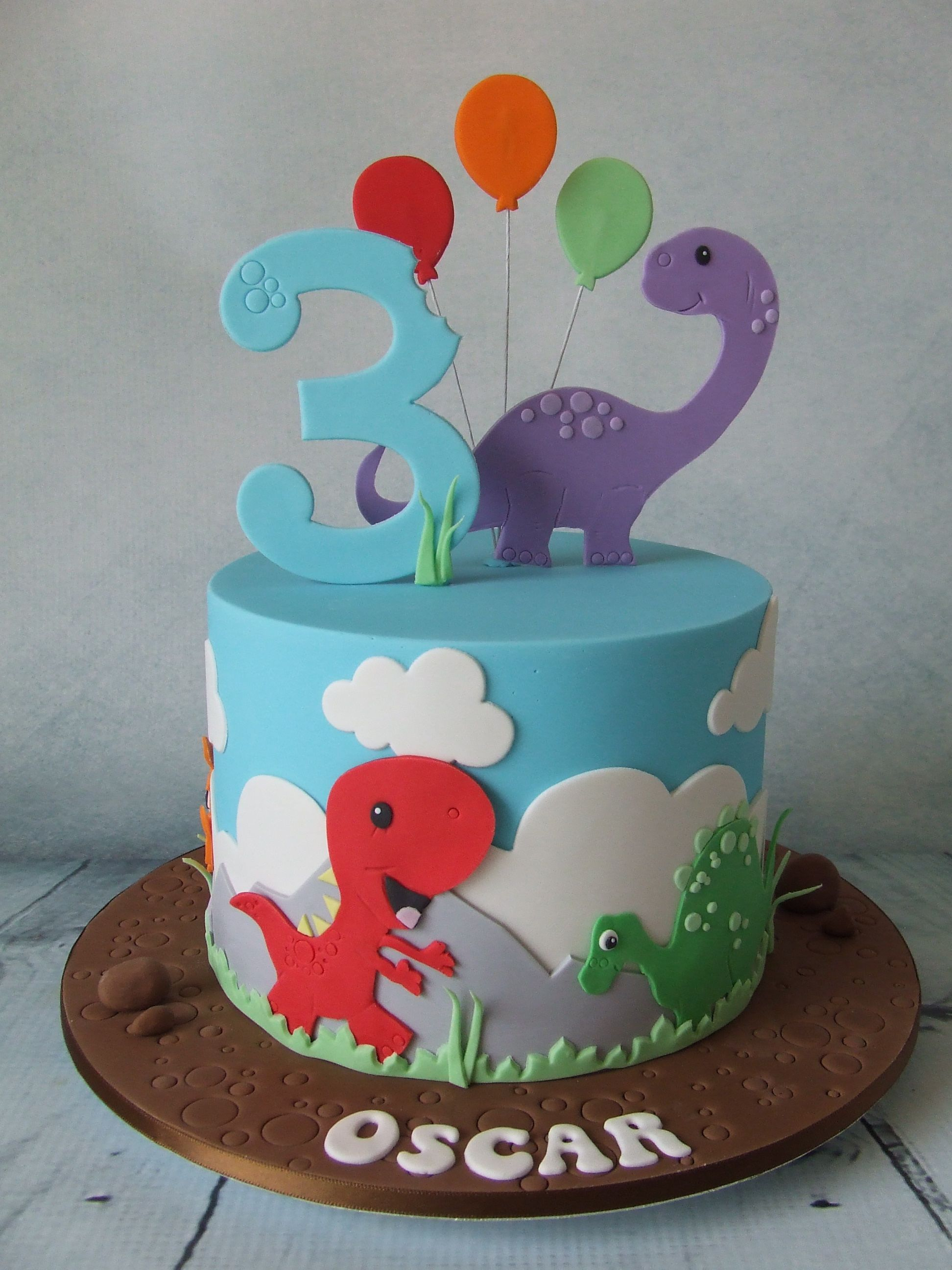 Dinosaur cake pinteres for 1st birthday cake decoration