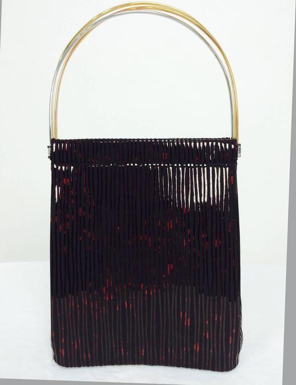 Cartier Trinity Burgundy Stripe Suede Handbag & Matching Agenda BlbPXk
