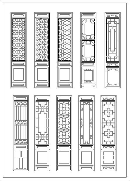 ☆【Chinese Door】-Cad Drawings Download|CAD Blocks|Urban