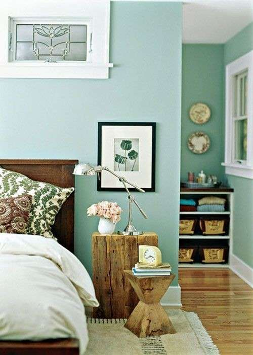 Camera da letto verde nel 2019 | Style | Camera da letto verde ...