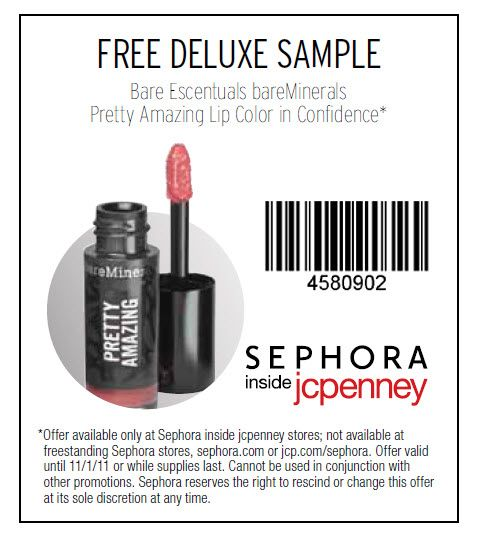 photo regarding Bare Minerals Printable Coupons identified as no cost sephora lipstick pattern females :) hair! Discount coupons
