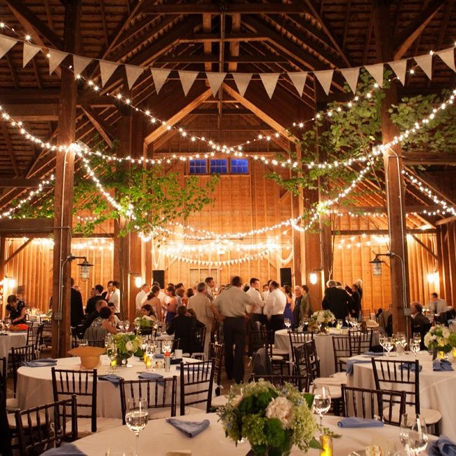 Barn Wedding Reception Decor: Barn Wedding Reception Photo By: Orchard Cove Photography
