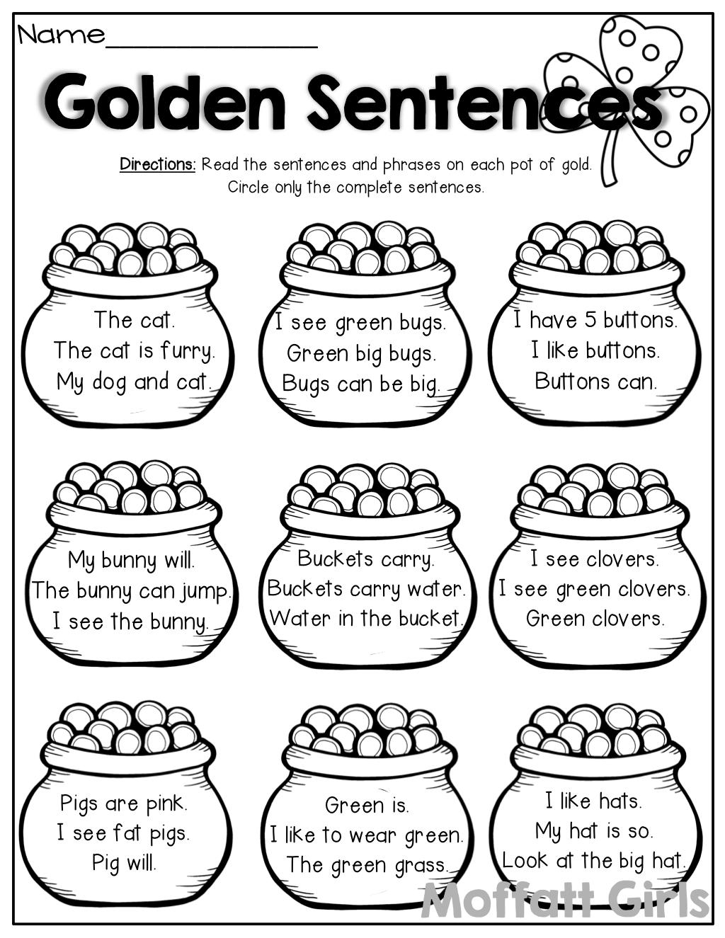 Read the simple sentencesphrases identify complete and read the simple sentencesphrases identify complete and incomplete sentences robcynllc Images