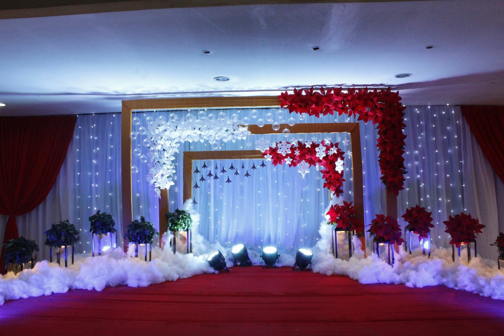 Wedding stage decoration with balloons  Pin by Keerthi Reddy on Screenshots  Pinterest  Backdrops
