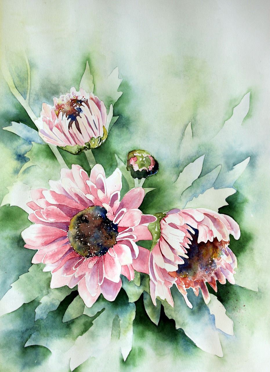 Free Photo Nature Paint Watercolour Art Watercolor Painting