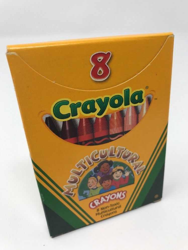 crayola multicultural crayons 8 count non toxic assorted colors