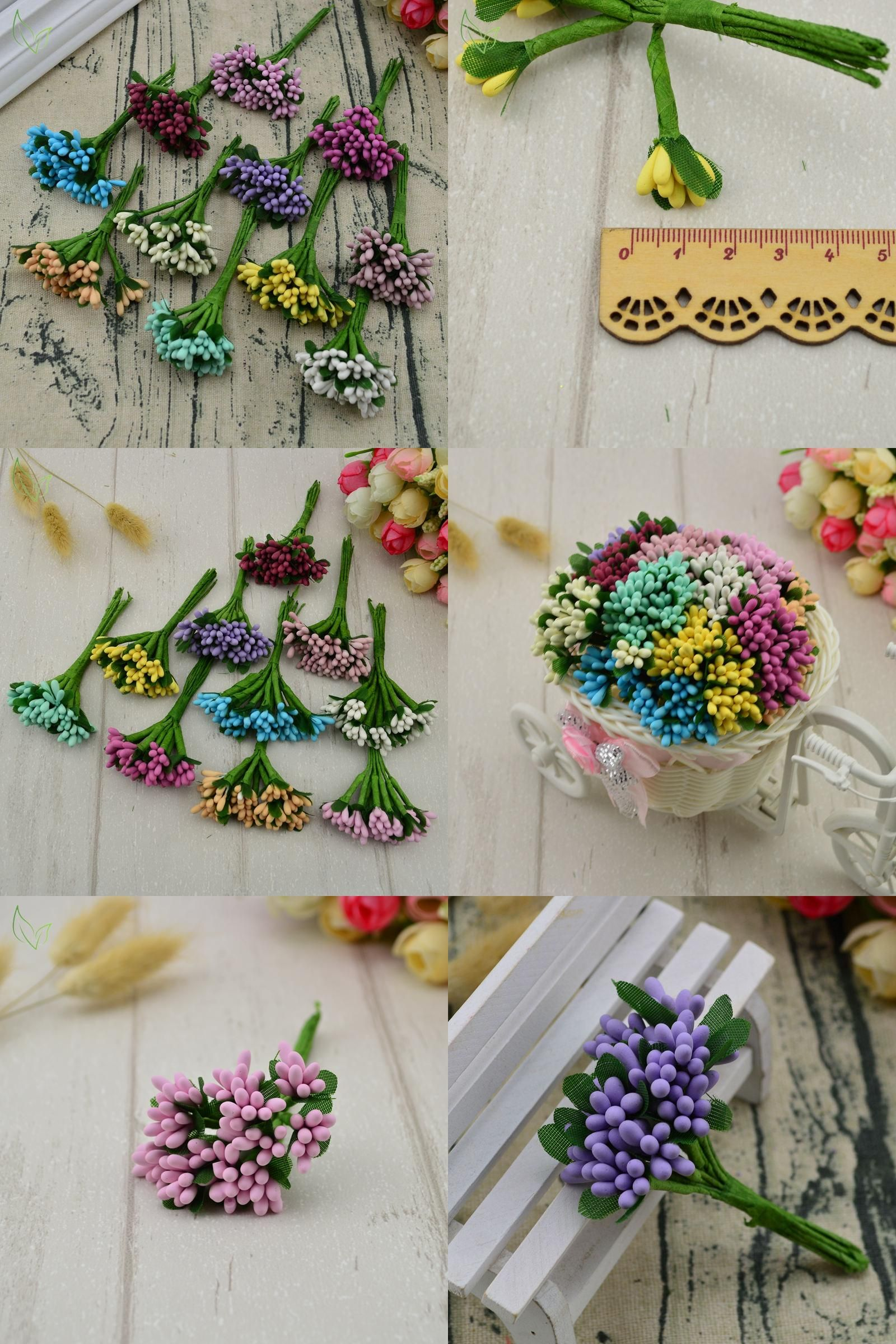 Visit To Buy 12 Pcs Stamen Sugar Handmade Artificial Flowers Cheap