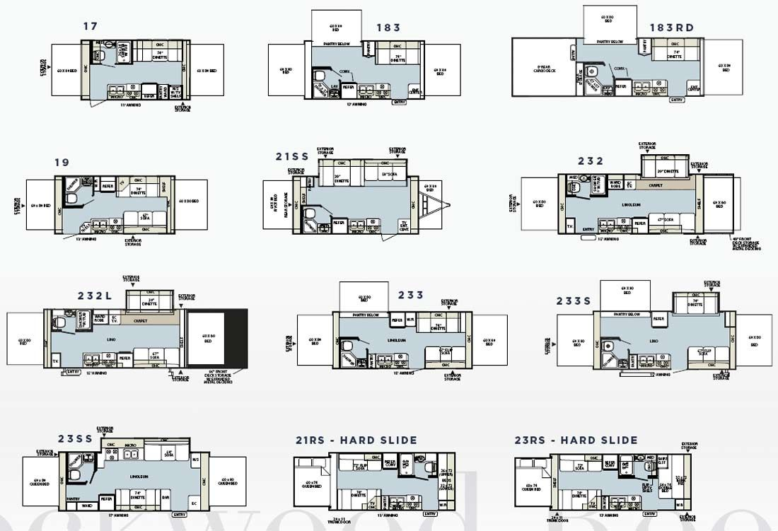 hight resolution of forest river rockwood roo expandable travel trailer floorplans large picture