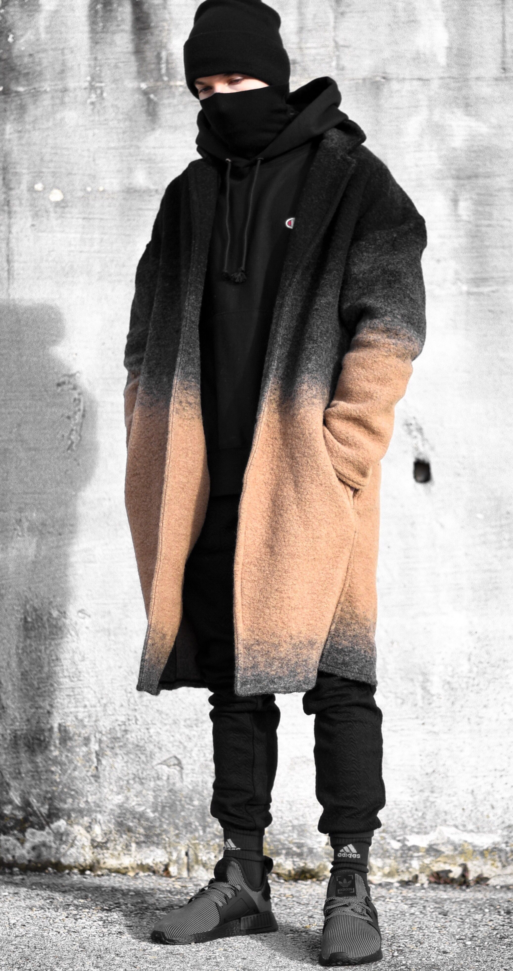 the latest bc12a 7b55f Wearing a black hoodie by Tiffany Merucci, coat by George Heaton,  jogger pants by I LOVE UGLY, turtleneck sweater by HM, socks by adidas  traxion menance and ...