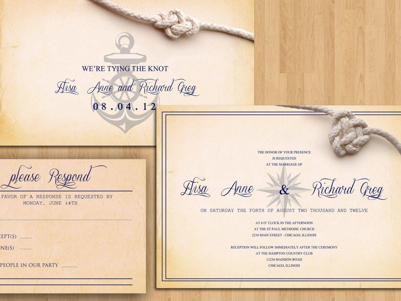 Buy Wedding Invitation Kits: Printable Wedding Invitations